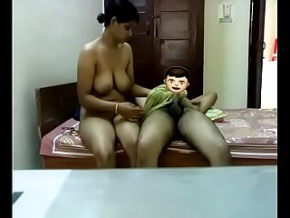 Indian Aunty sex with the brush husband